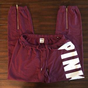 VS Pink sweatpants NWOT